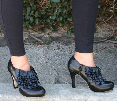 Madden Girl Raleigh Black Vegan Platform Pumps