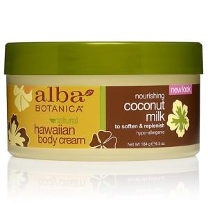 Alba Botanica Natural Hawaiian Body Cream - Coconut Milk