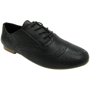 Madden Girl Tremor Black Vegan Oxford