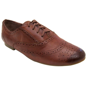 Madden Girl Tremor Brown Vegan Oxford